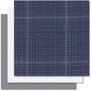 Layered Blue Tweed
