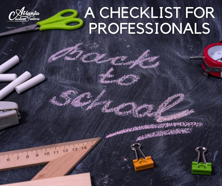 Back-to-School for Professionals: A Checklist